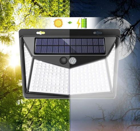 208 LED Outdoor Solar-powered